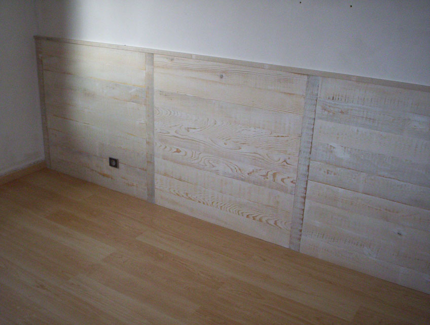 Habillage mural int rieur for Parquet mural bois
